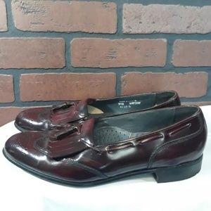 Dexter Mens Burgundy Kiltie Tassel Loafers 9.5 N